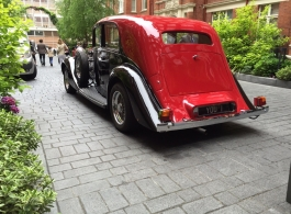 Vintage 1930s Rolls Royce wedding car in Edgeware
